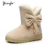 US $9.17 49% OFF 2018 Winter New Women Snow Boots Solid Bowtie Slip On Soft Cute Women Boots Round Toe Flat with Winter Shoes-in Ankle Boots from Shoes on Aliexpress.com   Alibaba Group