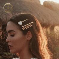 Женская заколка для волос с кисточкой, Винтажная заколка для волос с золотым сердцем, красный, белый, черный цвета, 2019 - Для красивых причесок