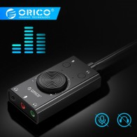 US $8.99 25% OFF|ORICO Portable USB External Sound Card Microphone Earphone Two in One With 3 Port Output Volume Adjustable For Windows/Mac/Linux-in Sound Cards from Computer & Office on Aliexpress.com | Alibaba Group