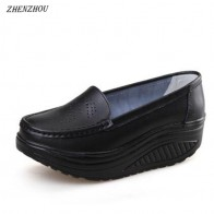 675.49 руб. 25% СКИДКА|ZHENZHOU/весенне летние женские туфли с вырезом, туфли медсестры, белые женские туфли на платформе, дышащие туфли на полой подошве-in Женская вулканизированная обувь from Туфли on Aliexpress.com | Alibaba Group