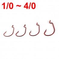 501.59 руб. 41% СКИДКА|50 шт. красный червь крючок для бас Рыбалка соленой воды 1/0 2/0 3/0 4/0 купить на AliExpress