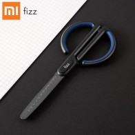 HOT Xiaomi Fizz Anti Stick With Scale Scissors Household Office School Antirust Hand Shear For DIY, Tape,Paper Shears Crop Tool-in Scissors from Education & Office Supplies on AliExpress