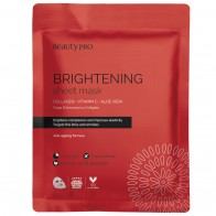 Коллагеновая маска для лица с витамином С BeautyPro Brightening Collagen Sheet Mask with Vitamin C