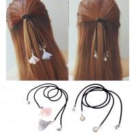 55.89 руб. 47% СКИДКА|M MISM новый цветок ЛОШАДЬ жемчуг аксессуары украшения для волос ободок резинки для волос резинки для женщин обувь девочек купить на AliExpress