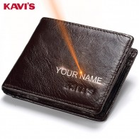 US $34.32 |KAVIS Rfid Free Engraving 100% Genuine Leather Wallet Men Coin Purse Portomonee PORTFOLIO Card Holder Male Cuzdan Perse Name-in Wallets from Luggage & Bags on Aliexpress.com | Alibaba Group