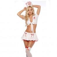 665.03 руб. 24% СКИДКА|Пикантная Дамская комплект нижнего белья играть роль униформа медсестры пикантные женские японские костюмы медсестры Хэллоуин косплэй купить на AliExpress