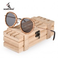 US $26.22 39% OFF|BOBO BIRD Oval Sunglasses Women Polarized Wood Sun Glasses in Wooden Gift Box Metal Temple gafas uv400 mujer W AG027-in Women
