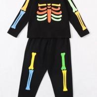 Пижама с принтом скелета для мальчиков