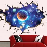 221.02 руб. 6% СКИДКА|3D сломанная стена Вселенная Галактика морской пейзаж остров кокосовых деревьев домашний декор может удалить настенные наклейки для комнаты наклейка-in Настенные наклейки from Дом и сад on Aliexpress.com | Alibaba Group