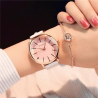 US $3.69 51% OFF|Polygonal dial design women watches luxury fashion dress quartz watch ulzzang popular brand white ladies leather wristwatch-in Women