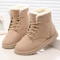 Женские зимние ботинки, теплые меховые ботильоны для женщин, 2019
