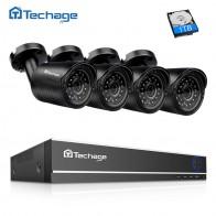 4906.04 руб. 20% СКИДКА|Techage система безопасности камеры 4CH 720 P DVR 1.0MP 1200TVL ИК ночной Открытый водонепроницаемый AHD CCTV камера P2P видео набор для наблюдения-in Система наблюдения from Безопасность и защита on Aliexpress.com | Alibaba Group