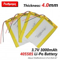 3.7V 3000mAh Li-polymer Battery Battery 405585 For DVD GPS PAD Tablet Electric Toys  Remote controller, E-book