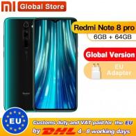 Xiaomi Redmi Note 8 Pro с глобальной версией, 6 ГБ, 64 ГБ, смартфон, 64 мп, четырехъядерный процессор Helio G90T, четыре ядра, 4500 мАч, NFC