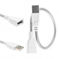 48.65 руб. 17% СКИДКА|Кабель удлинитель USB для мужчин и женщин светодиодный кабель адаптера вентилятора гибкий металлический шланг шнур питания-in Кабели передачи данных from Бытовая электроника on Aliexpress.com | Alibaba Group