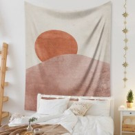 Настенный Гобелен мандалы, розовый, от солнца, Луны, богемный, настенный гобелен, хиппи, Декор для дома - Гобелены с Алиэкспресс