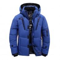 3308.16 руб. 25% СКИДКА|2018 зимняя куртка для мужчин новая мода толстые с капюшоном меховой воротник парка пальто для будущих мам повседневное мягкий купить на AliExpress