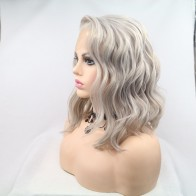 US $32.23 38% OFF|Fantasy Beauty  Heat Resistant Fiber Silver Grey Synthetic Bob Cut Lace Front Short Gray Wigs For Women Replacement Wigs-in Synthetic Lace Wigs from Hair Extensions & Wigs on AliExpress - 11.11_Double 11_Singles