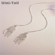 US $2.77 35% OFF|Uini Tail new 925 sterling silver Korean literary temperament dream catcher ear line personality hollow earrings wholesale GN364-in Drop Earrings from Jewelry & Accessories on Aliexpress.com | Alibaba Group
