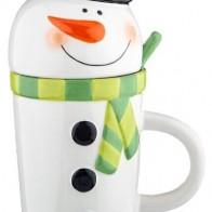 Купить Кружка новогодняя с крышкой и ложкой 800 мл Lefard (782-164) по низкой цене с доставкой из Яндекс.Маркета - Посуда для праздника