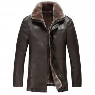 6473.61 руб. 5% СКИДКА|10012 Зимние Мех животных пальто, кожаная куртка мужской из овечьей кожи зимнее пальто для мужчин integrated ворс с толстой теплая куртка купить на AliExpress