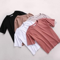 US $6.91 15% OFF|Best friends T Shirt Women New t shirts women 2018 vogue Vintage tshirts cotton women O Neck Short Sleeve-in T-Shirts from Women