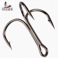 32.05 руб. 31% СКИДКА|10 шт. рыболовные крючки из высокоуглеродистой стали тройной черный рыболовный крючок круглый сложенный морской окунь 3/0 # 10 # снасти инструменты-in Рыболовные крючки from Спорт и развлечения on Aliexpress.com | Alibaba Group