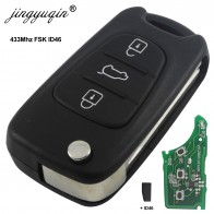 jingyuqin For Hyundai I30 IX35 ELANTRA Tucson SONATA NF 433Mhz ASK ID46 Chip 3 Buttons Flip Folding Car Remote Key Fob