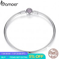 US $16.54 35% OFF|BAMOER Authentic 100% 925 Sterling Silver Snake Chain Heart Bangle & Bracelet Luxury Jewelry PAS904-in Chain & Link Bracelets from Jewelry & Accessories on Aliexpress.com | Alibaba Group