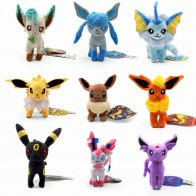 9 Styles Standing Eevee Vaporeon Glaceon Umbreon Flareon Jolteon Espeon Leafeon Sylveon Animal Stuffed Plush Quality Cartoon Toy on AliExpress