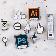 US $0.59 40% OFF|Classical Pixel Cursors PS AI Photoshop Toolbar Hourglass Computer Window Icon Mouse Pointer Hand Arrow Enamel Brooches Pins-in Brooches from Jewelry & Accessories on AliExpress - 11.11_Double 11_Singles