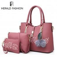 1266.62 руб. 47% СКИДКА|Herald Мода 3 шт кожаные сумки Сумки Для женщин известный бренд сумка женская повседневная женская сумка Bolsas Feminina-in Сумки с ручками from Багаж и сумки on Aliexpress.com | Alibaba Group