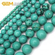 281.28 руб. 49% СКИДКА|Драгоценный камень внутри 4 15 мм круглые каменные бусины окрашенные цвета голубой бирюзовый бусины для изготовления бижутерии 15