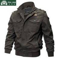 Мужская куртка в стиле милитари, хлопковая куртка-Авиатор большого размера на весну и осень, 6XL