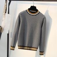 1064.29 руб. 47% СКИДКА|Новый высококачественный полосатый осенне зимний женский свитер толстый жаккардовый вязаный пуловер и свитер модный Повседневный женский джемпер-in Пуловеры from Женская одежда on Aliexpress.com | Alibaba Group