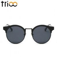 TRIOO круглые солнцезащитные очки, высокое качество, металлические круглые солнцезащитные очки для женщин, маленькие круглые солнцезащитные ... - Трендовые очки