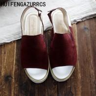 2321.37 руб. 49% СКИДКА|HUIFENGAZURRCS 2019 сандалии из натуральной кожи с открытым носком в стиле ретро женские сандалии на плоской подошве повседневные сандалии для студентов 2 цвета-in Женские сандалии from Туфли on Aliexpress.com | Alibaba Group