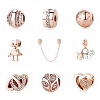 € 3.41 43% de réduction|Authentique Original 100% 925 argent Sterling charme perle or Rose pendentif breloques CZ Fit Pandora Bracelets femmes bijoux à bricoler soi même-in Perles from Bijoux et Accessoires on Aliexpress.com | Alibaba Group