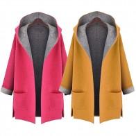 1083.53 руб. |KLV 2019 Топ женское модное пальто куртка средней длины большого размера свободное спереди Открытое пальто 11,19-in Шерсть и сочетания from Женская одежда on Aliexpress.com | Alibaba Group