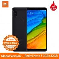 9795.05 руб. |Польша запасы Глобальный Версия Xiaomi Redmi Note 5 3 GB 32 GB 5,99