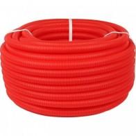 Купить Труба гофрированная ПНД, цвет красный, наружным диаметром 25 мм для труб диаметром 16-22 мм STOUT в Ульяновске - Гофрированные трубы