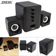 566.95 руб. 27% СКИДКА|SADA полный спектр 3D стерео компьютерные колонки сабвуфер Портативный динамик s маленький ПК динамик DJ USB комбинированный звук для телефона тв купить на AliExpress