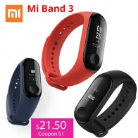 US $21.5 31% OFF|Xiaomi Mi Band 3 Miband 3 Smart Wristband With 0.78