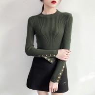 967.74 руб. 40% СКИДКА|WWENN осень зима свитер для женщин 2018 трикотажные высокие эластичные джемпер свитеры для и пуловеры женский черный, красн купить на AliExpress