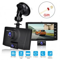 US $26.33 31% OFF|170 Degree Viewing Angle Dash Cam Car DVR Camera Video Recorder Dual Lens Registrar 3 in 1 HD 1080P Dashcam 4 Inches 2019 New on AliExpress