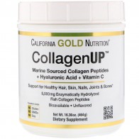 California Gold Nutrition, CollagenUP, морской коллаген + гиалуроновая кислота + витаминC, без добавок, 464г (16,36 унций)