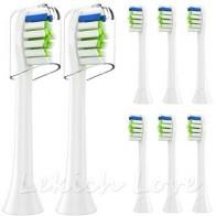 8 шт. насадки для зубных щеток с 2 шт. многоразовые Защитные чехлы для Philips Sonicare насадки для щеток подходят для 2 серии 3 серии Health