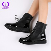 AIMEIGAO Newest Women Sexy Ankle Boots Female Fashion Patent PU Leather Platform Women Shoes Plus Size Boots For Women-in Ankle Boots from Shoes on AliExpress