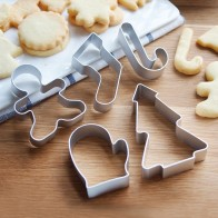 US $2.38 20% OFF|5pcs/set Xmas Christmas Cookie Form Cutters Fondant Cake Decorating Biscuit Cake Mold Aluminum Alloy DIY Baking Pastry Tools-in Cookie Tools from Home & Garden on AliExpress - 11.11_Double 11_Singles