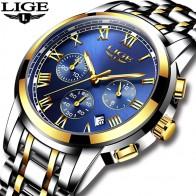 1198.77 руб. 92% СКИДКА|Новинка 2018 года часы для мужчин Элитный бренд LIGE хронограф для мужчин спортивные часы водостойкие полный сталь кварцевые для мужчин... купить на AliExpress